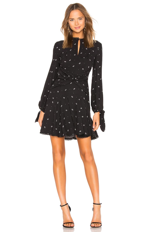 LOVER Foulard Mini Dress in Black