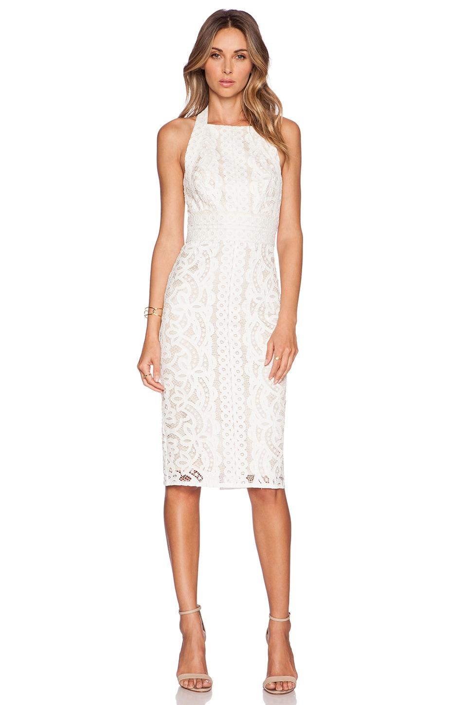 Lover Poppy Halter Midi Dress in Ivory | REVOLVE