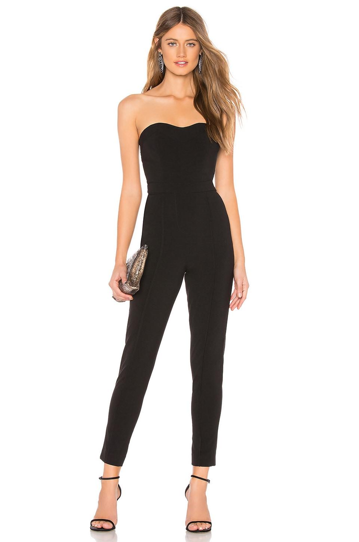 LPA Sweetheart Neckline Jumpsuit in Black