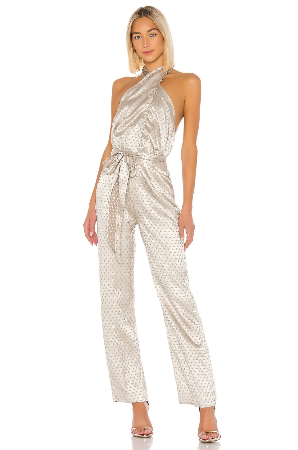 LPA Glenda Jumpsuit in Dusty Gold