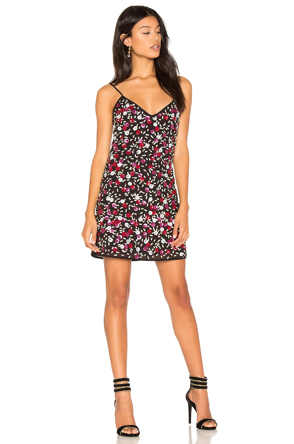 LPA Dress 63 in Floral Sequin
