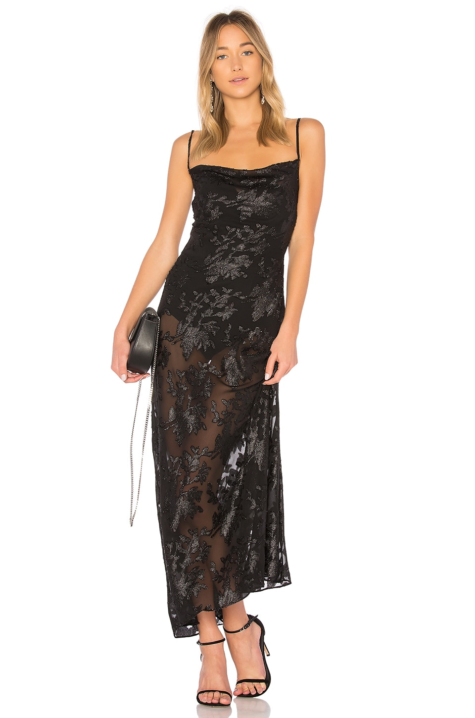 LPA Dress 603 in Black Lurex