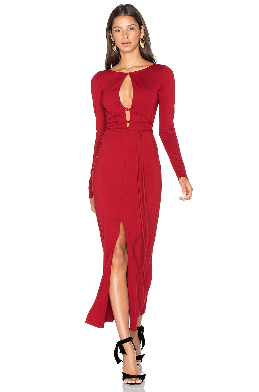 LPA Dress 50 in Oxblood