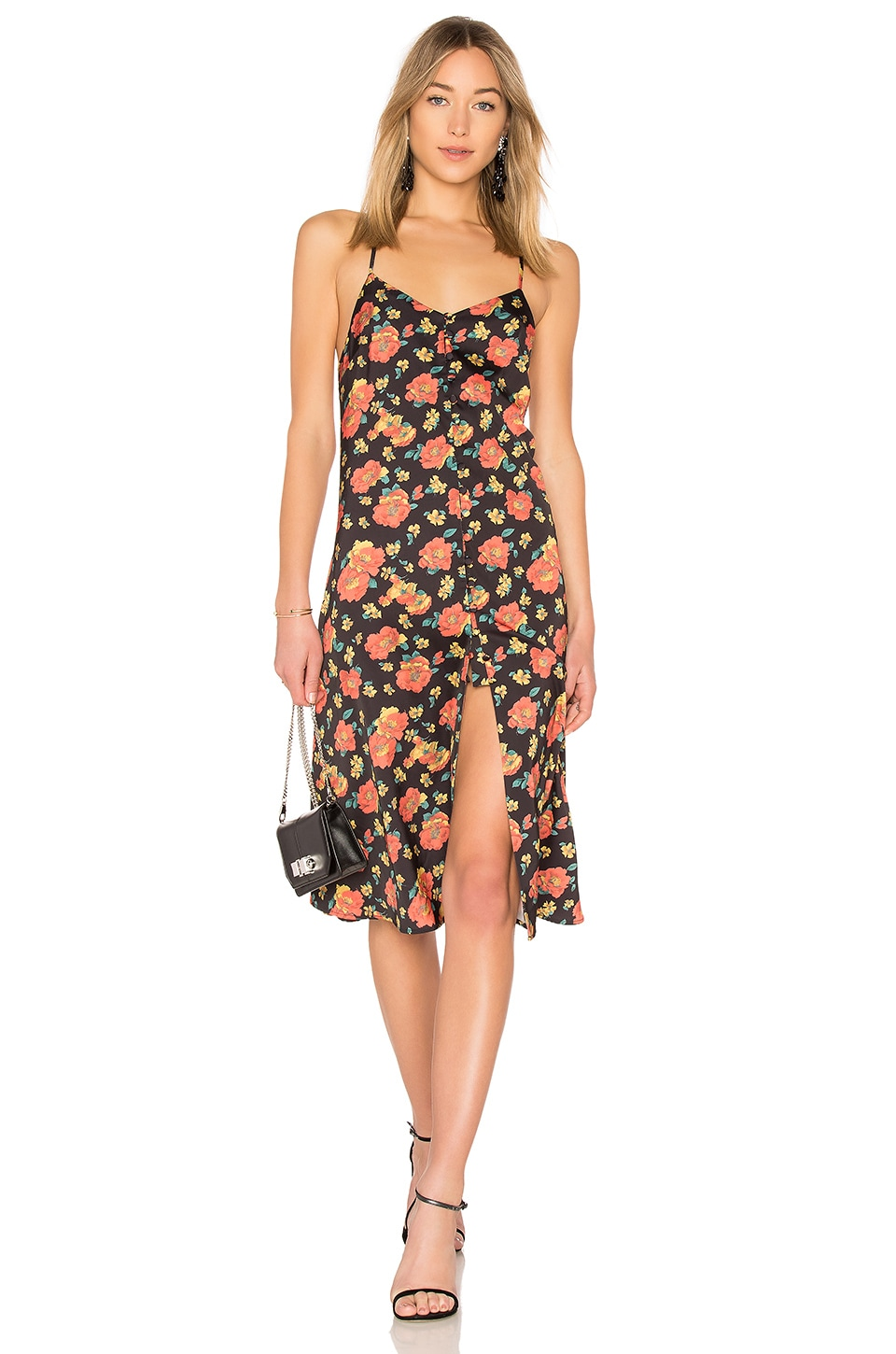 LPA Button Up Slip Dress in Rose Garden