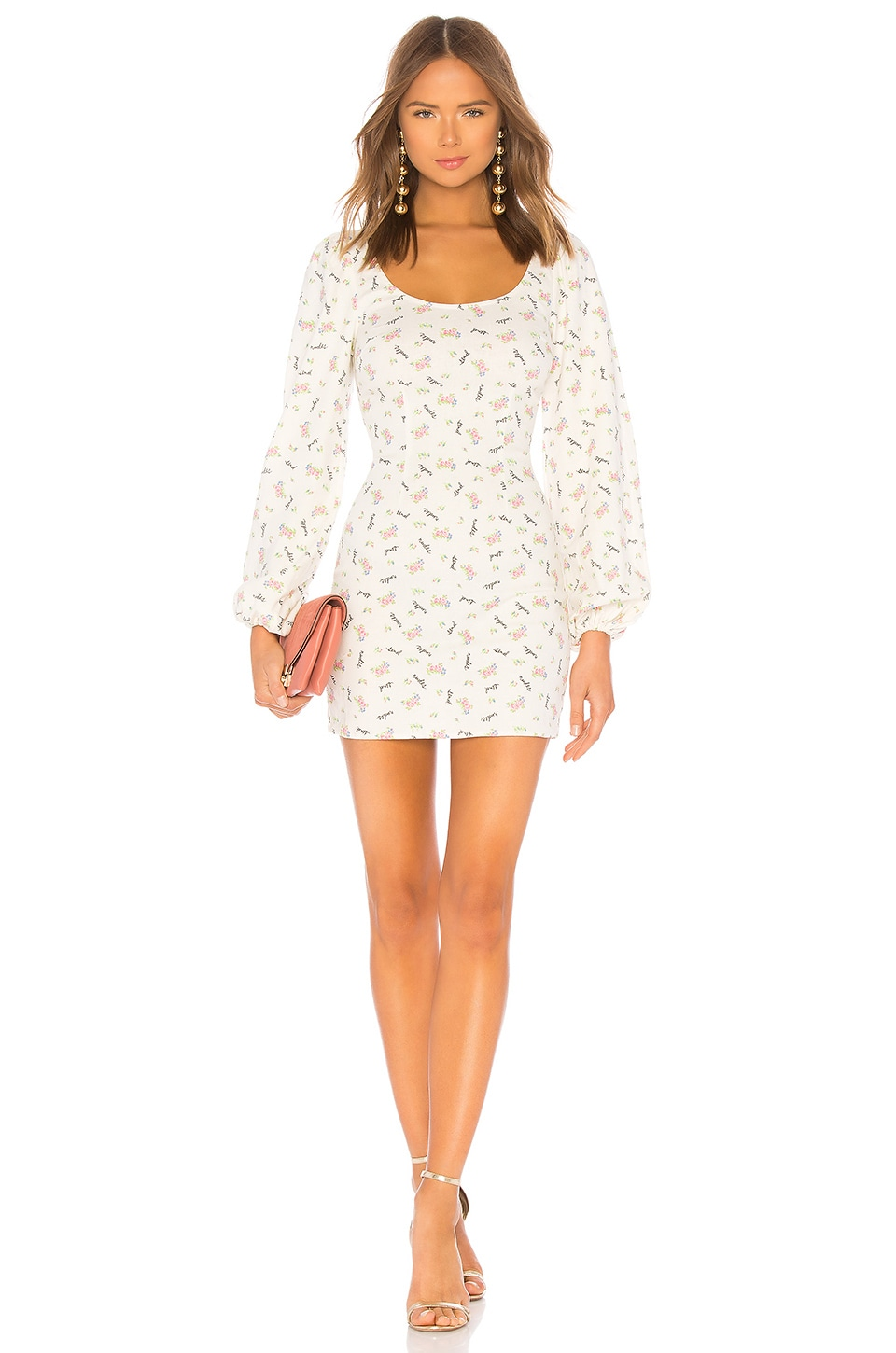 Lpa Puff Sleeve Mini Dress In Send Nudes Floral Revolve Likely charlotte dress in black. lpa