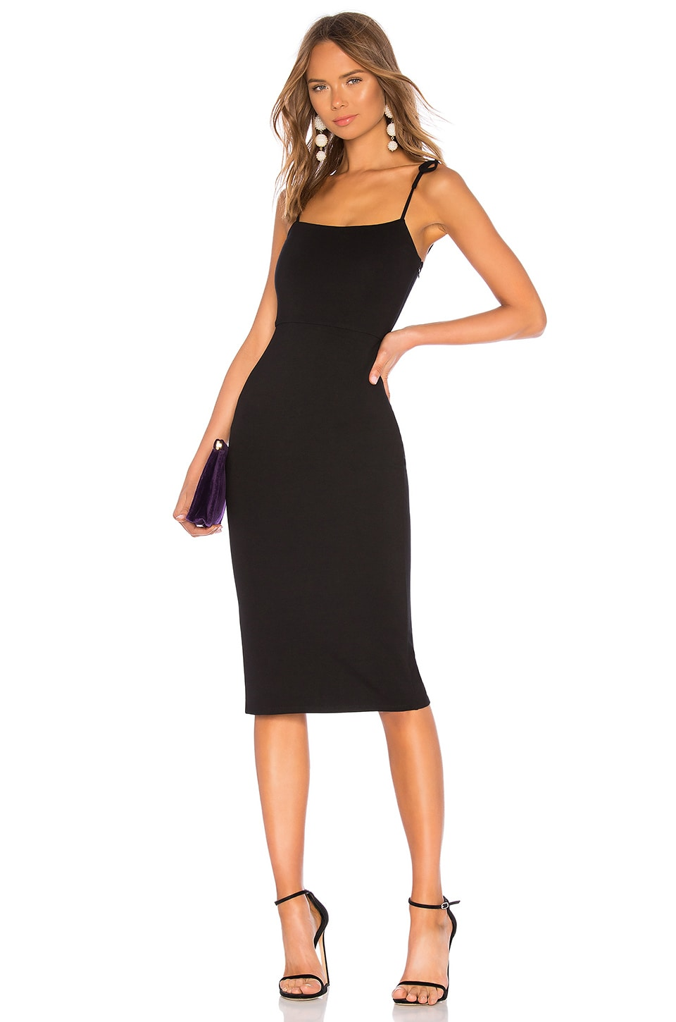 LPA Tank Midi Dress in Black