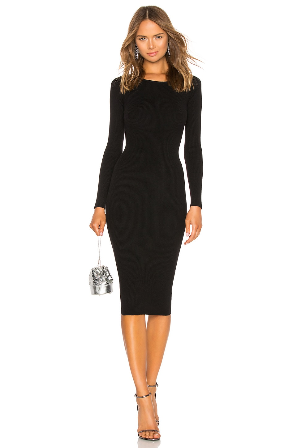 LPA Auburn Sweater Dress in Black