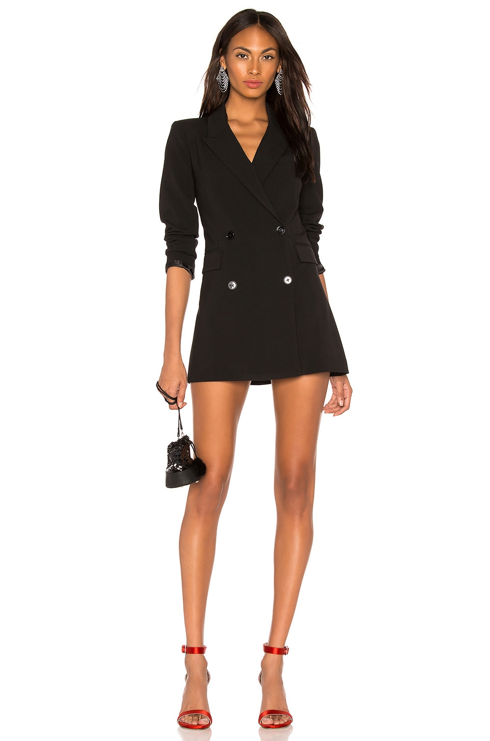 LPA Double Breasted Blazer Dress in Black