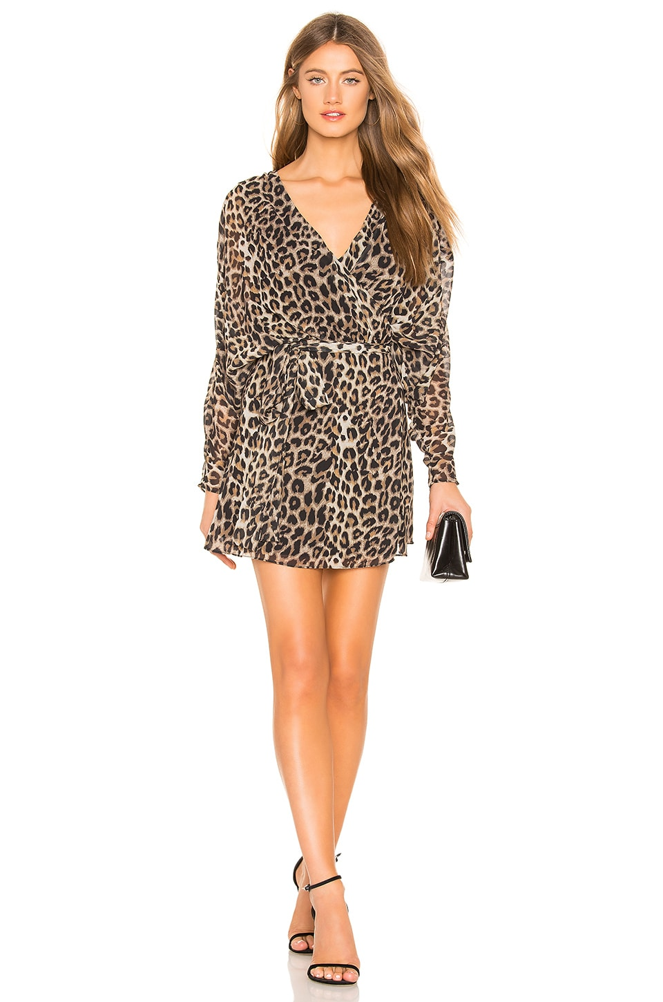 LPA Liliana Mini Dress in Leopard