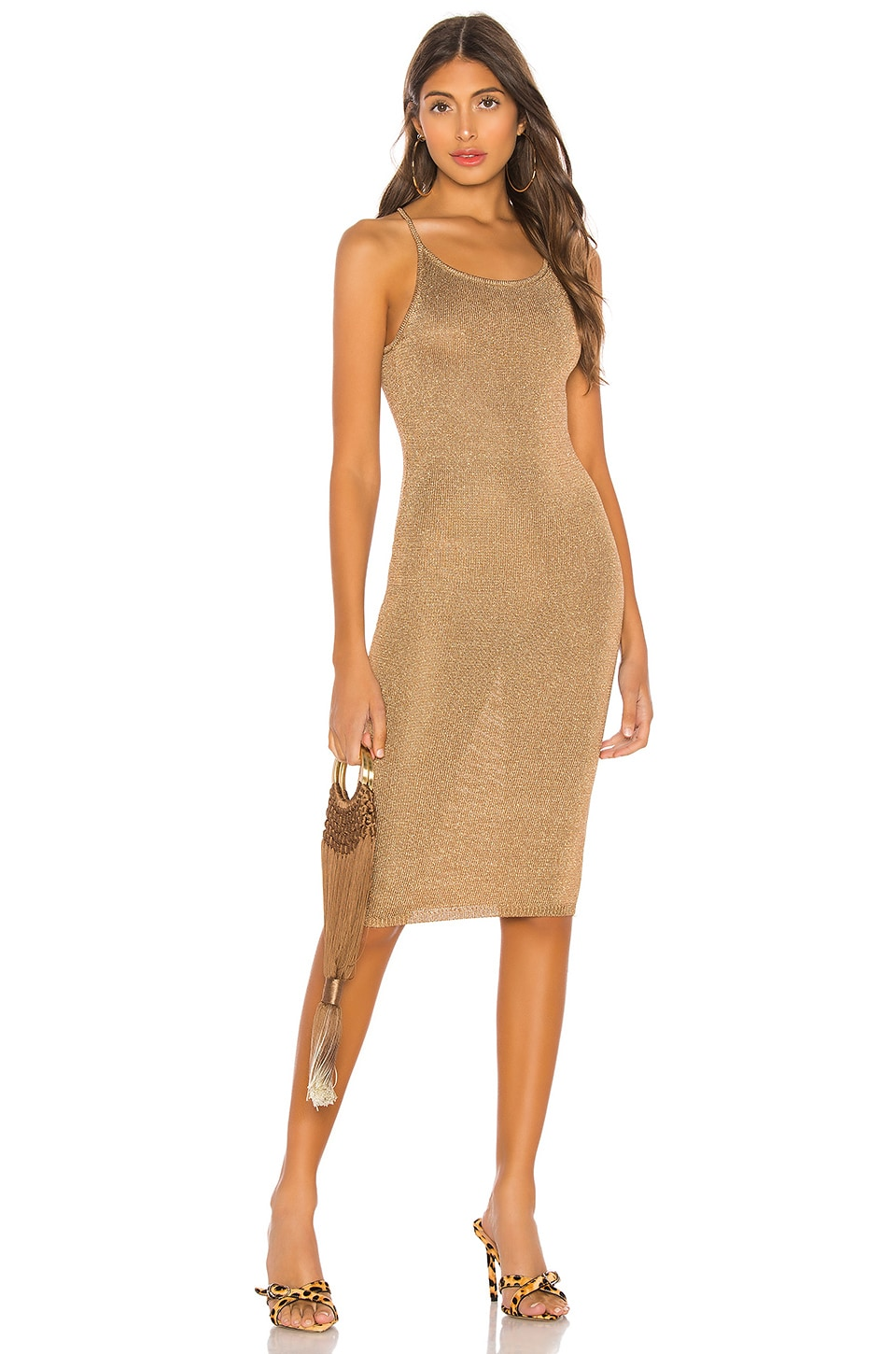 LPA Lanni Dress in Gold