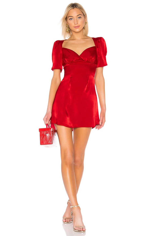 LPA Rosalie Dress in Red