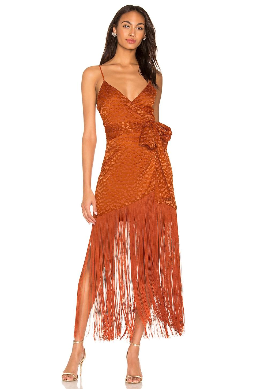 LPA Orelia Dress in Rust