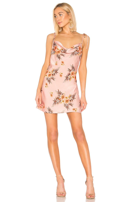 LPA Cowl Mini Slip Dress in Tropic Bouquet