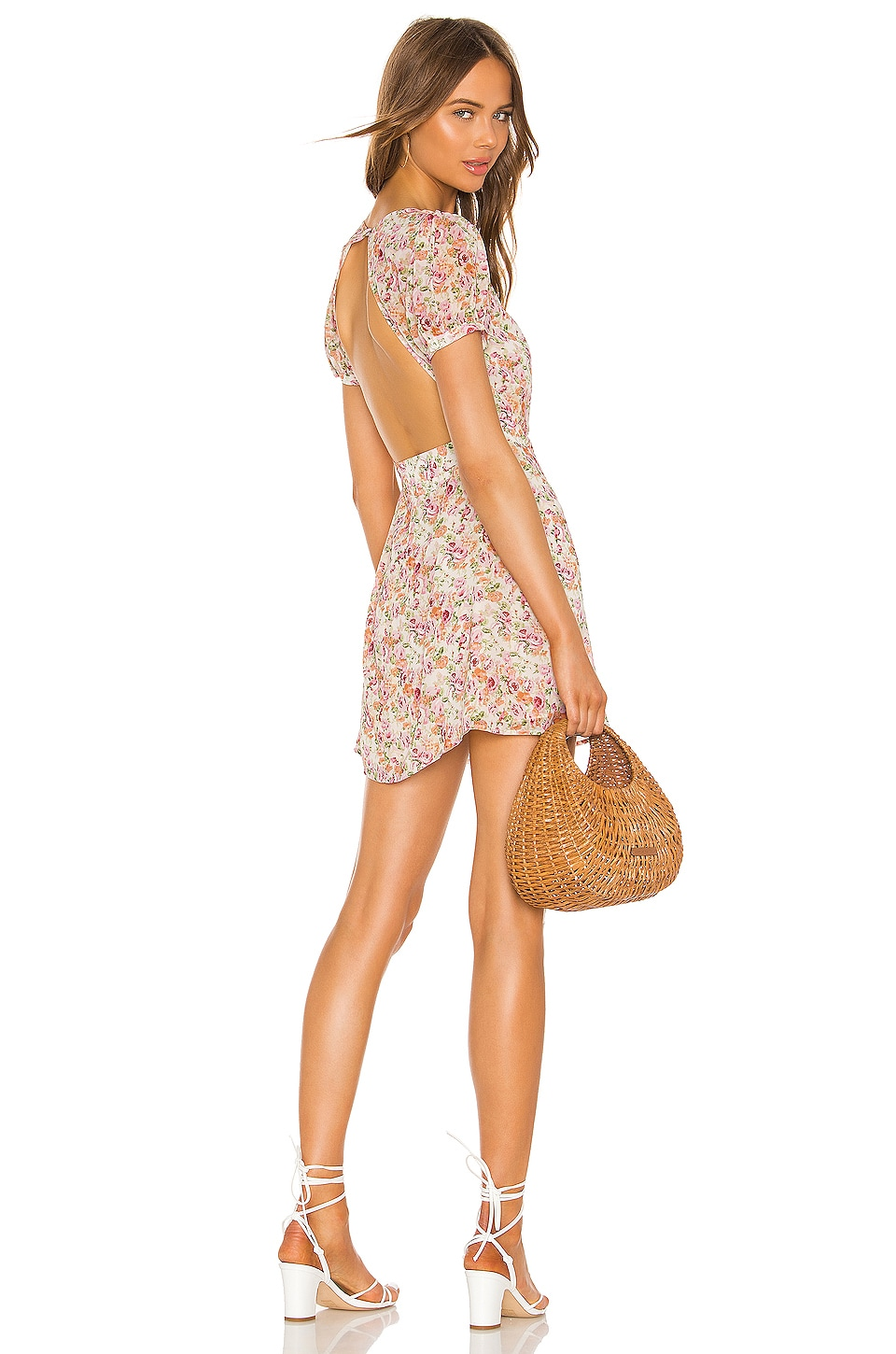 LPA Back Cutout Wrap Dress in Lizz Floral