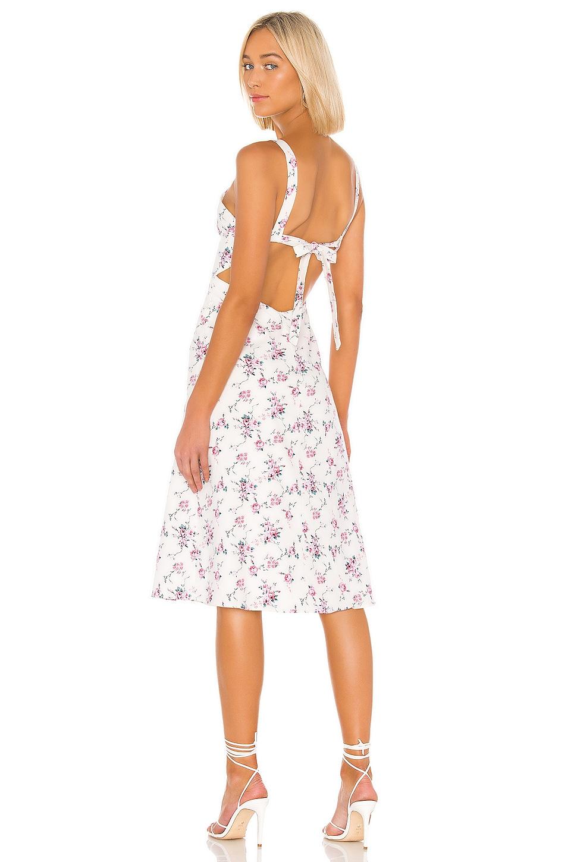 LPA Square Neck Tie Back Dress in Amara Floral
