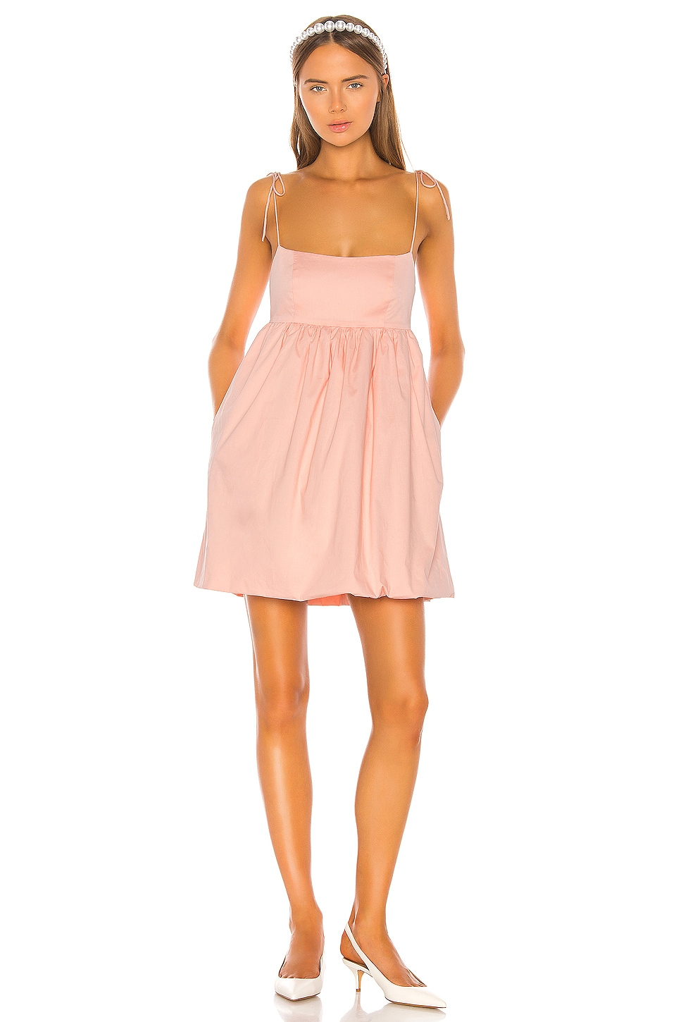 LPA Daria Dress in Baby Pink