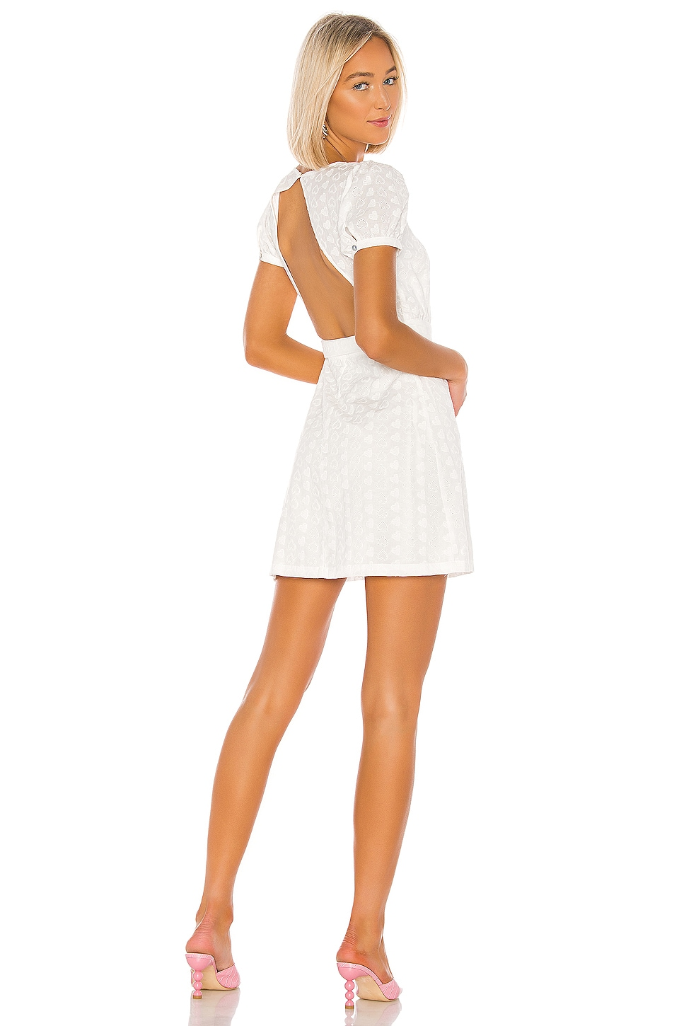 LPA Back Cutout Wrap Dress in White