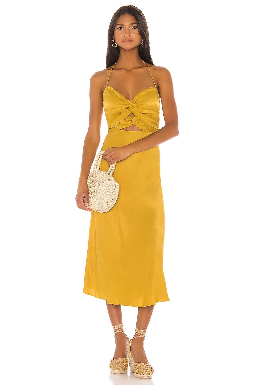 LPA Emilia Dress in Ochre