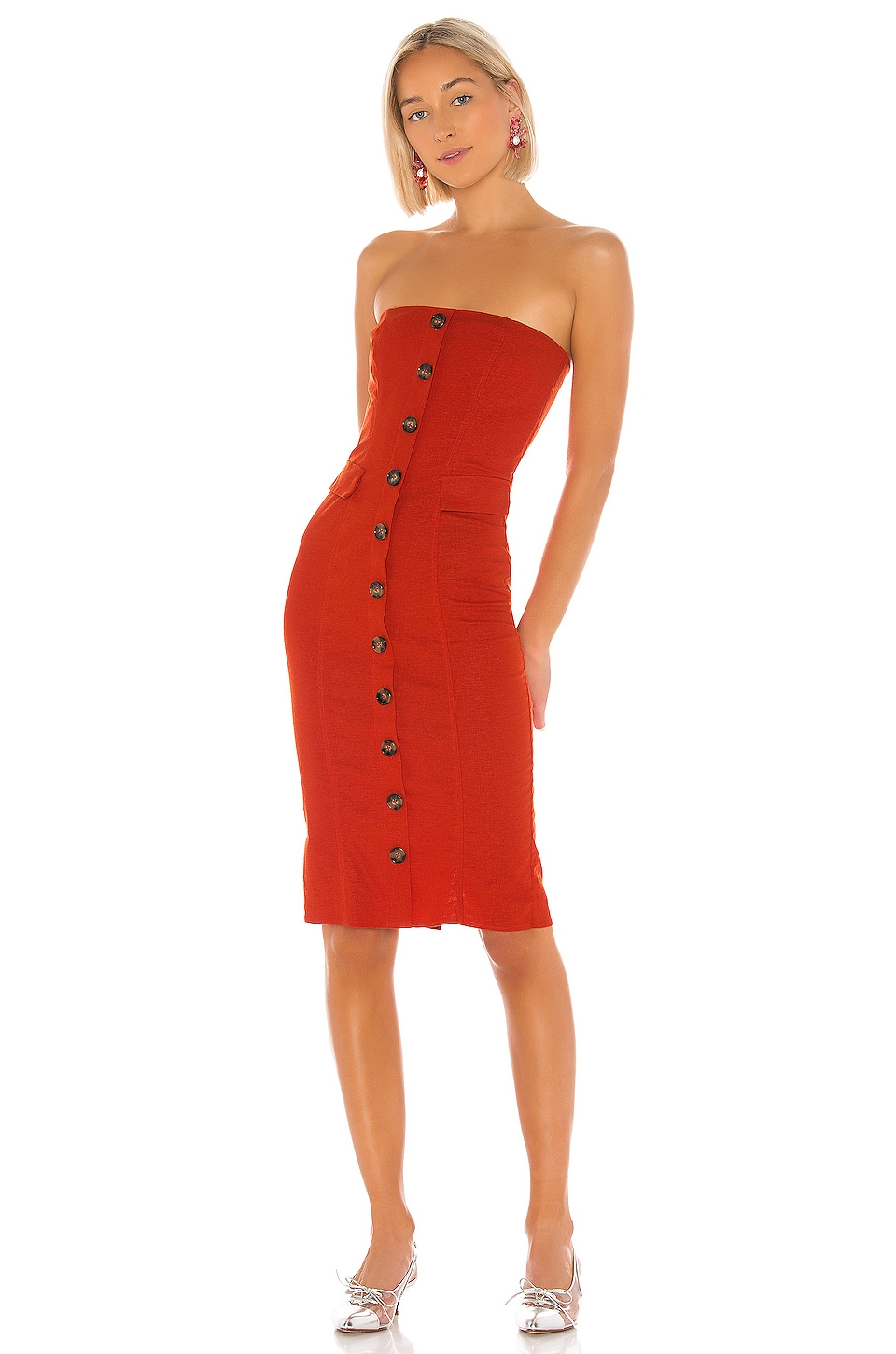 LPA Loretta Dress in Red
