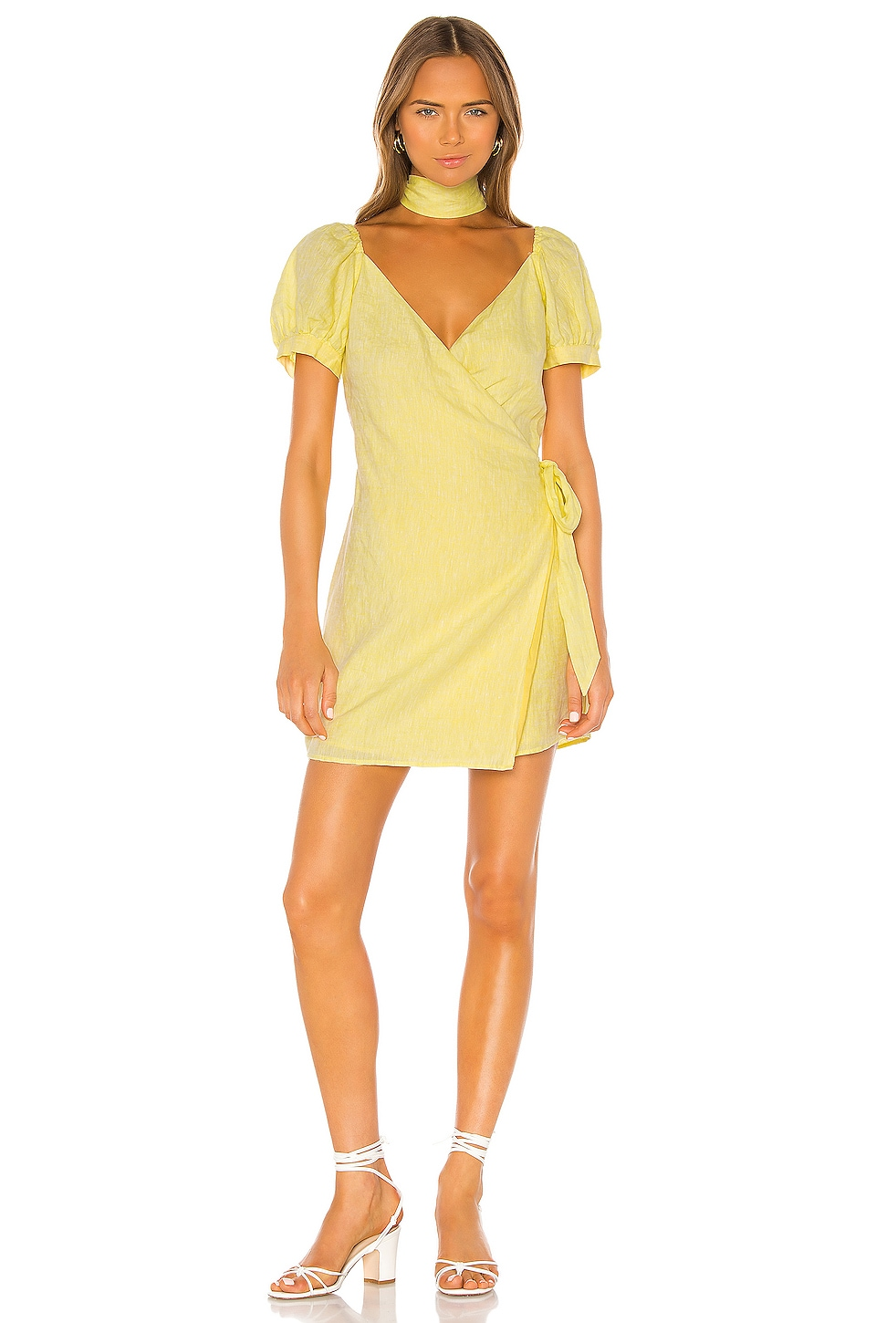 LPA Gionna Dress in Butter Yellow