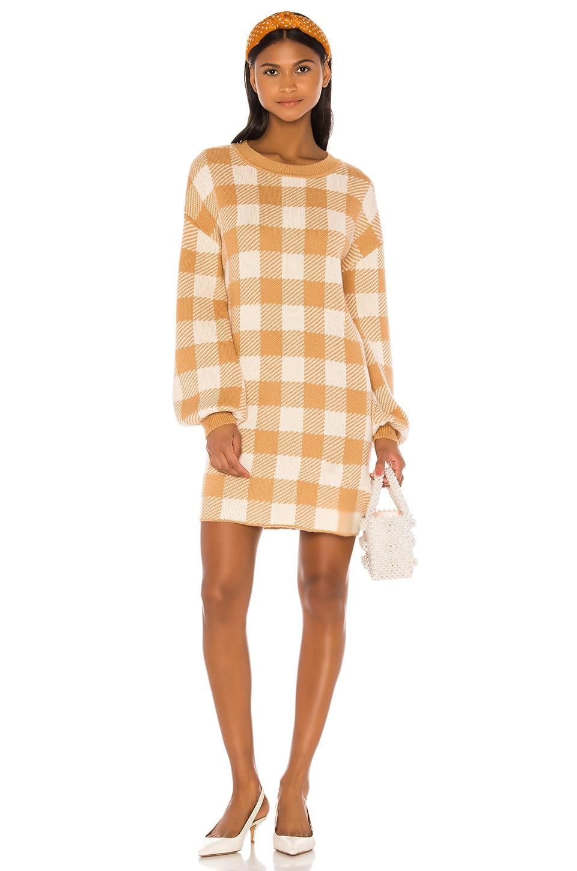 LPA Floyd Sweater Dress in Tan