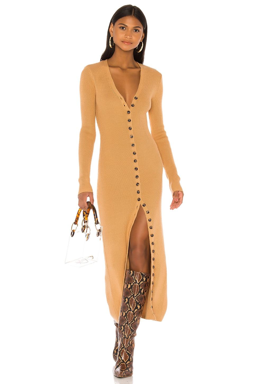 LPA Kavala Sweater Dress in Camel
