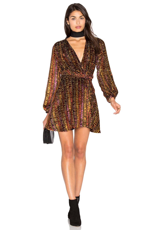 LPA Dress 418 in Dotty Velvet