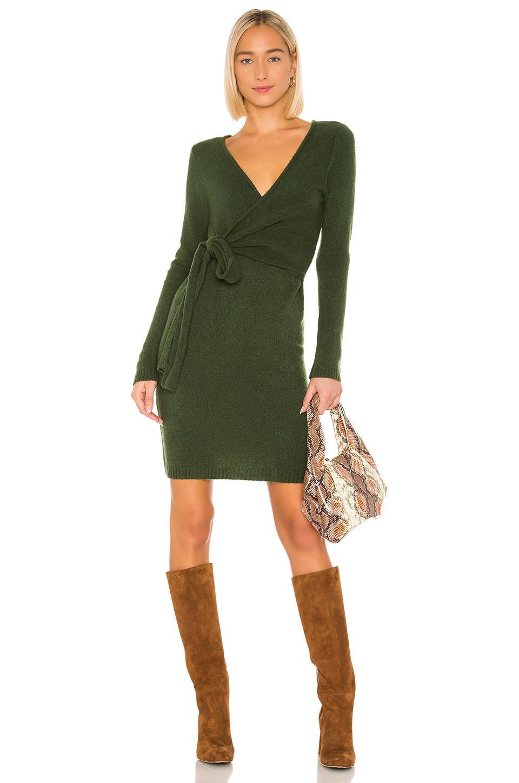 LPA Sean Wrap Dress in Green