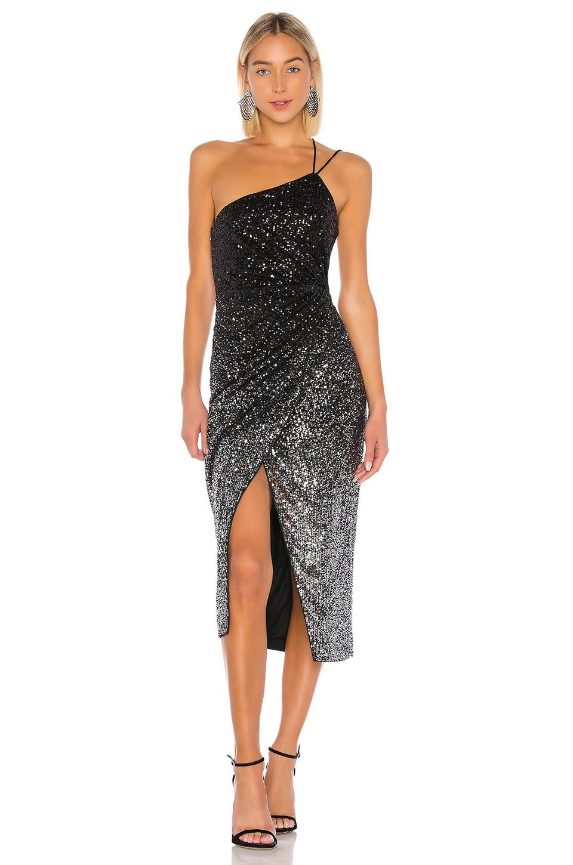 LPA Andrea Dress in Black & Silver