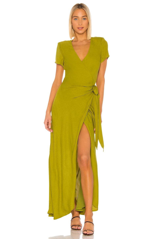 LPA Kian Dress in Kermit Green