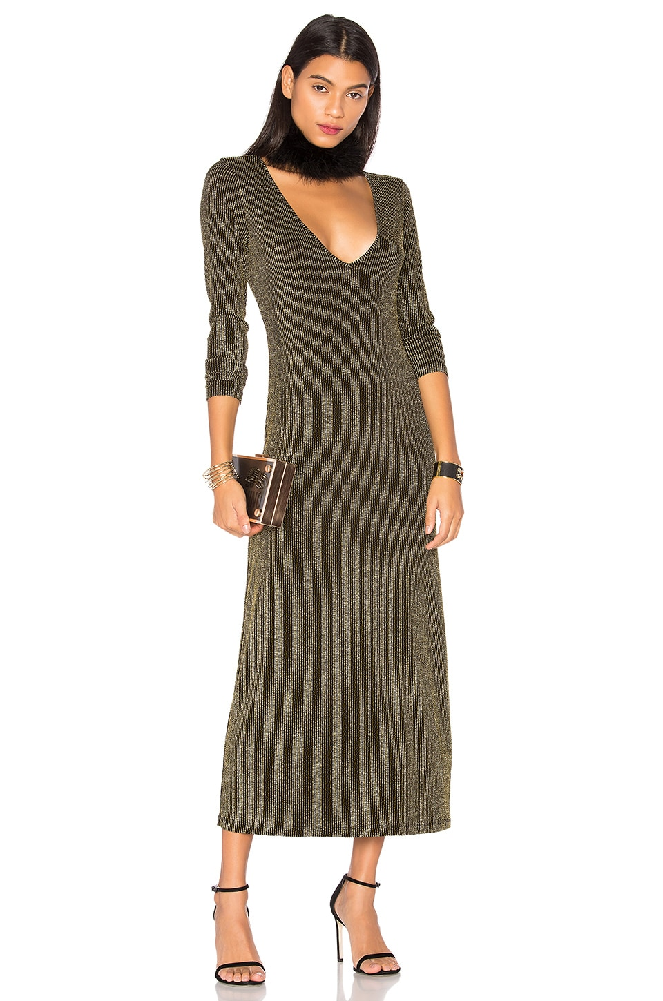 LPA Dress 90 in Black And Gold