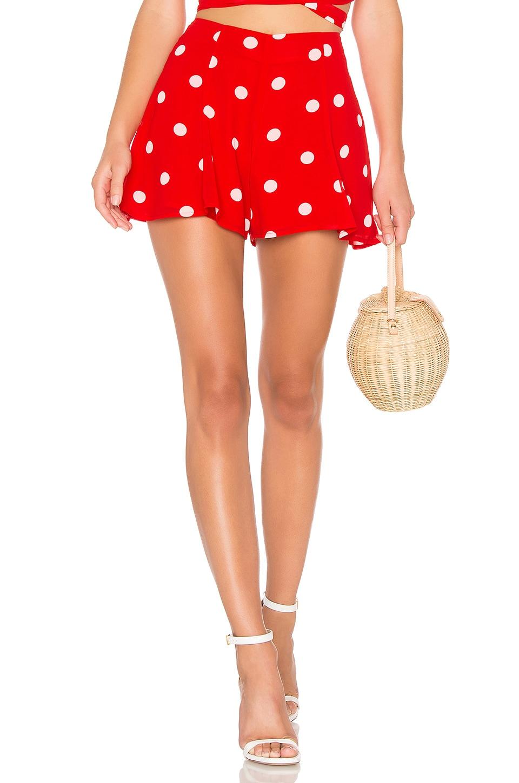 LPA Flirty Short in Red Polka Dot