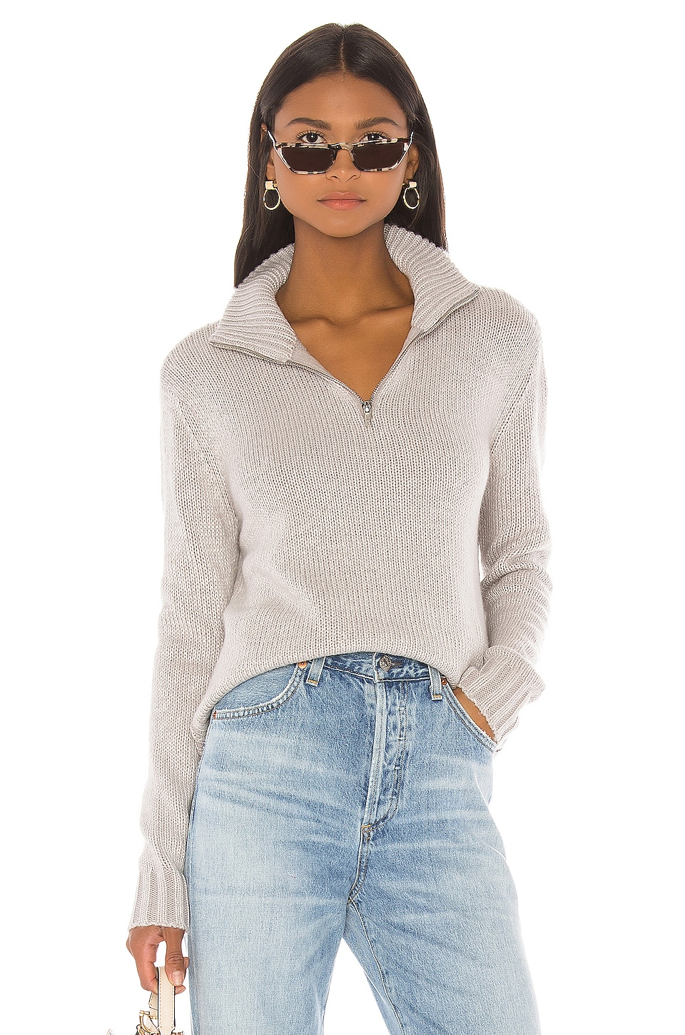 LPA Renata Turtleneck in Ash Grey