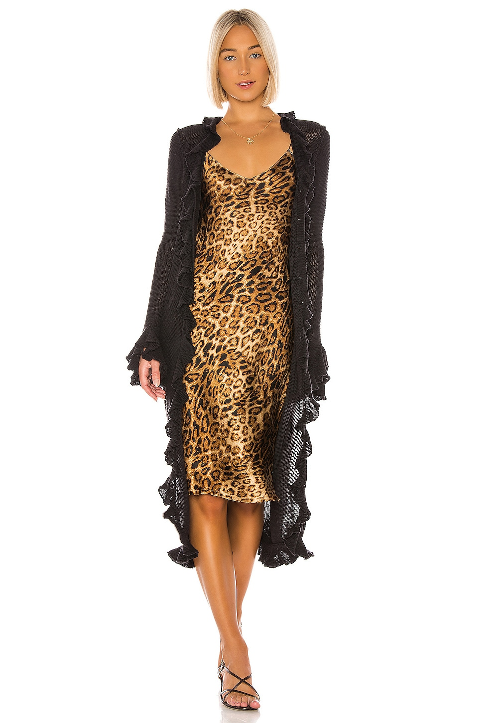 LPA Ruffle Duster in Black