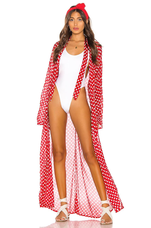 LPA Josephine Kimono in Red Dot