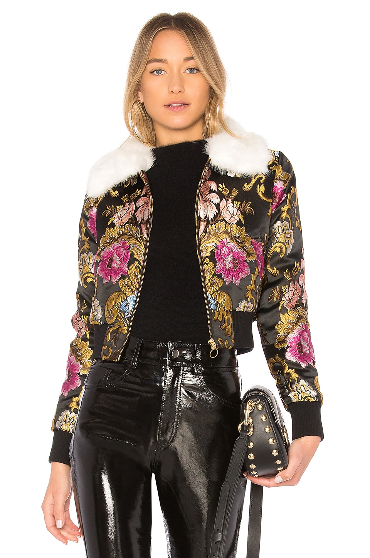 LPA Jacket 618 in Black Floral