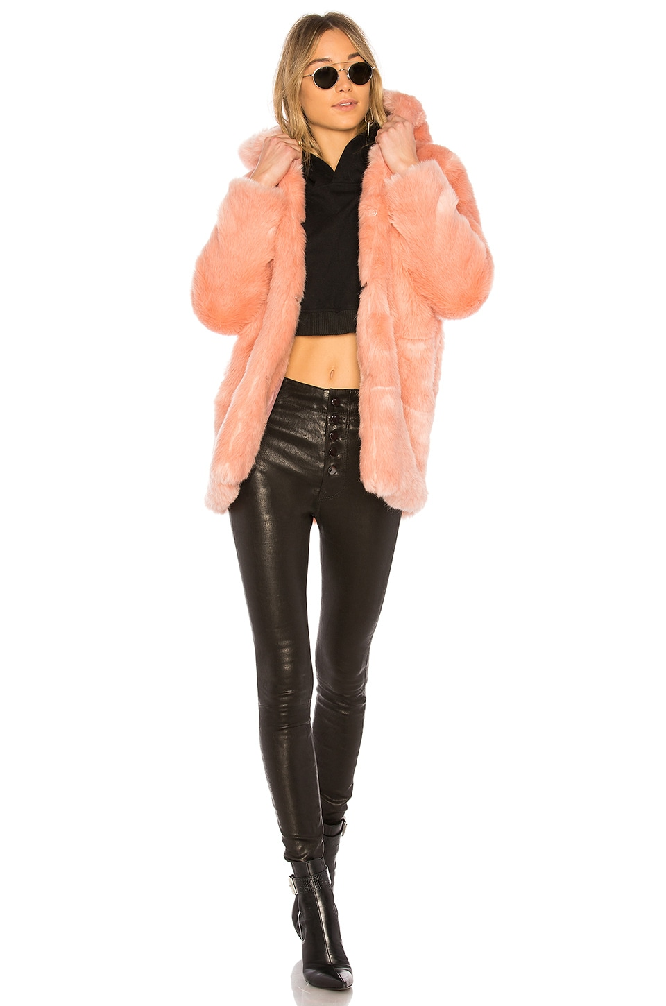 LPA Faux Fur Jacket 84 in Rosette