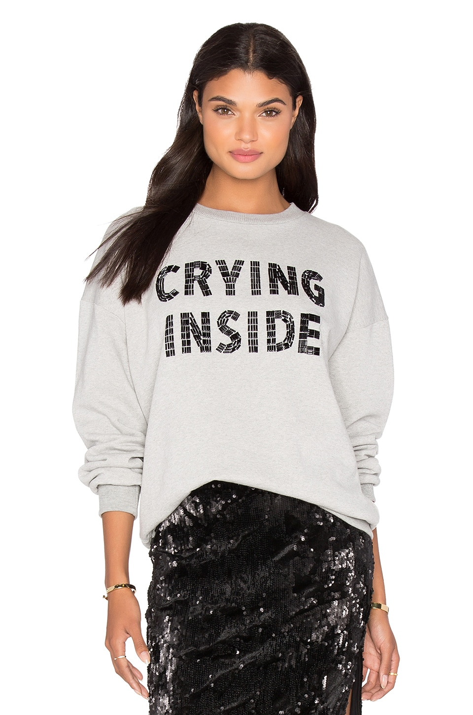 LPA Sweatshirt 115 in Heather Grey