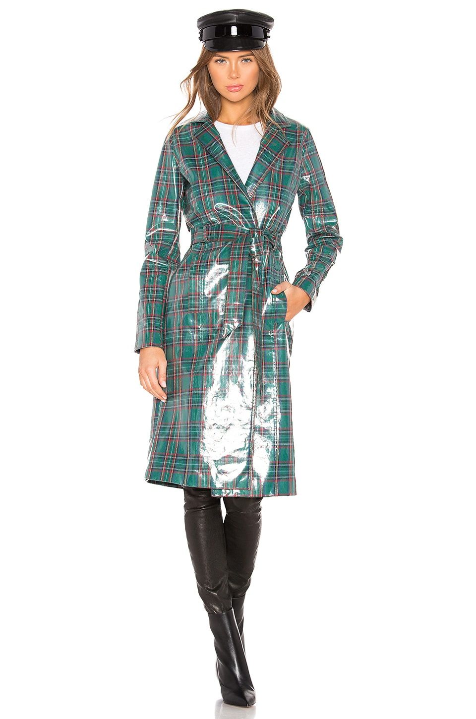 LPA Patrizia Trench in Green Plaid