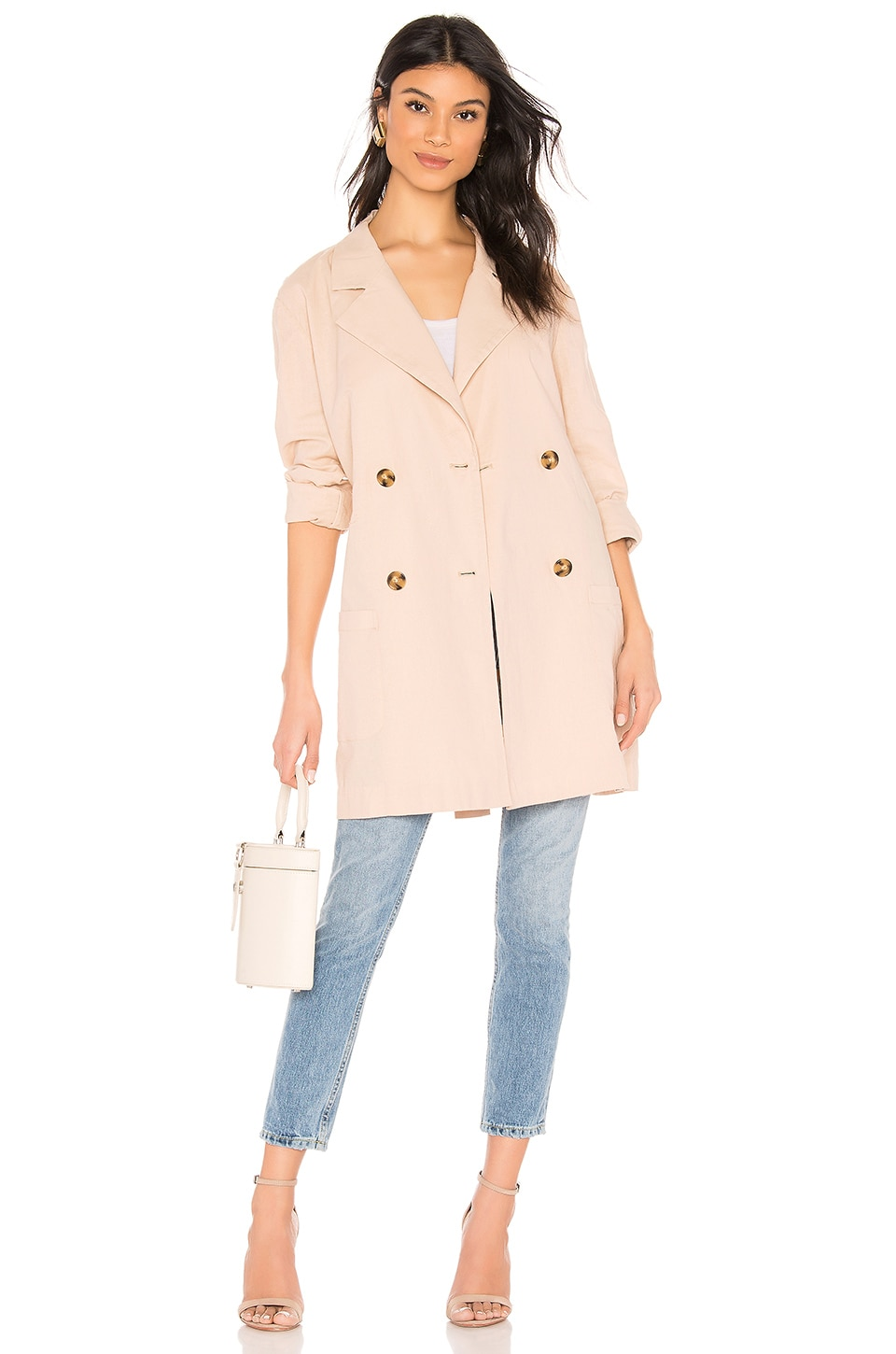 LPA Double Breasted Jacket in Khaki