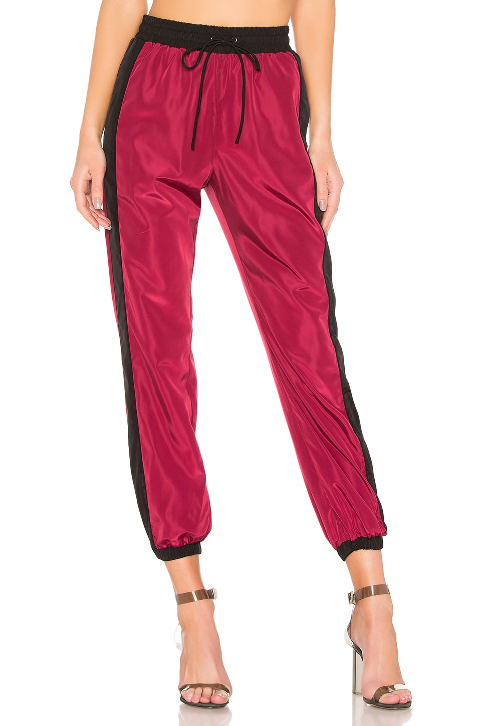 LPA Gino Pant in Burgundy & Black