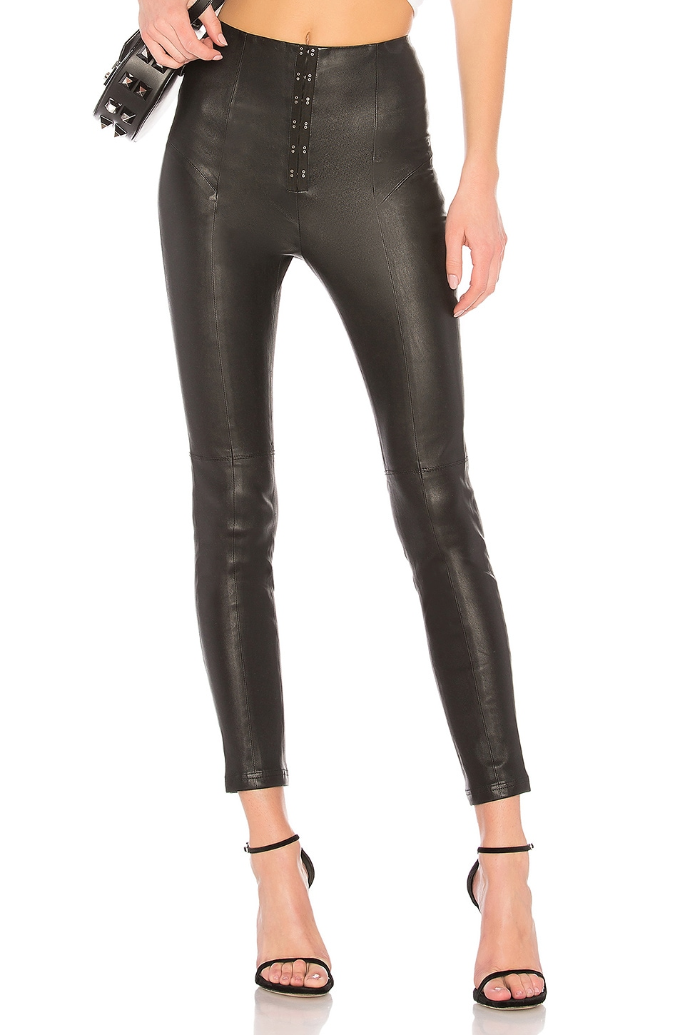LPA Leather Legging 636 in Black