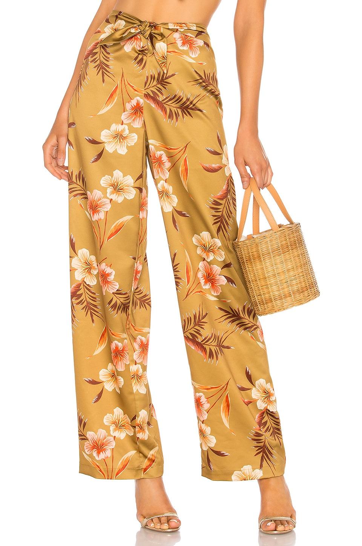 LPA Tie Front Pant in Lush Tropics