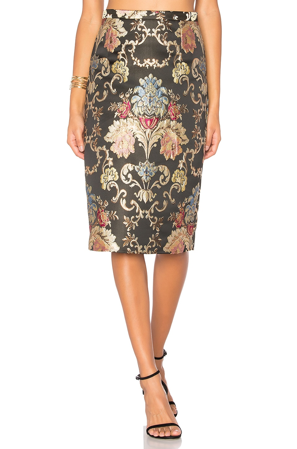 LPA Skirt 116 in Floral Jacquard