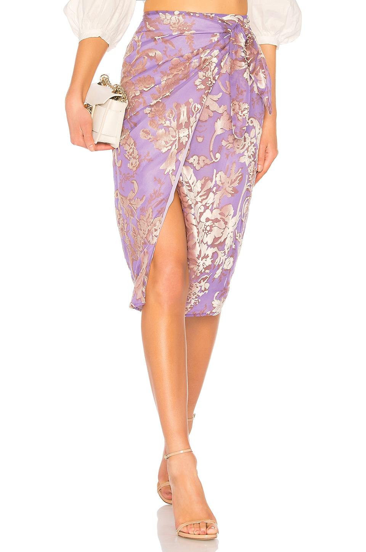 LPA Skirt 285 in Lilac Velvet