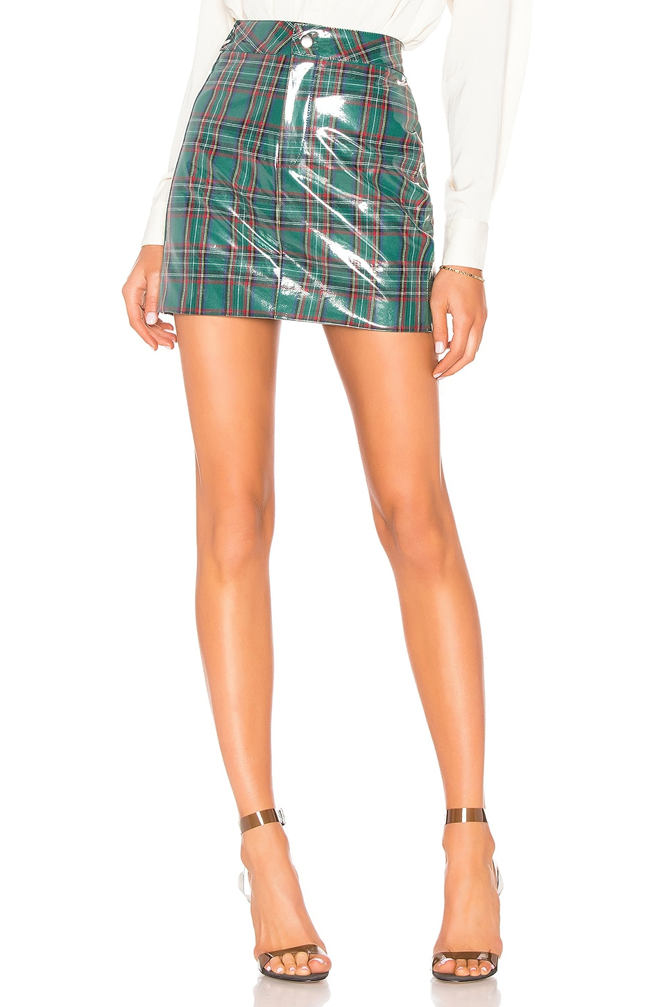 LPA Nicia Skirt in Green Plaid