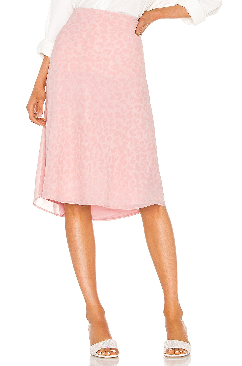 LPA Lucy Skirt in Pink Leopard