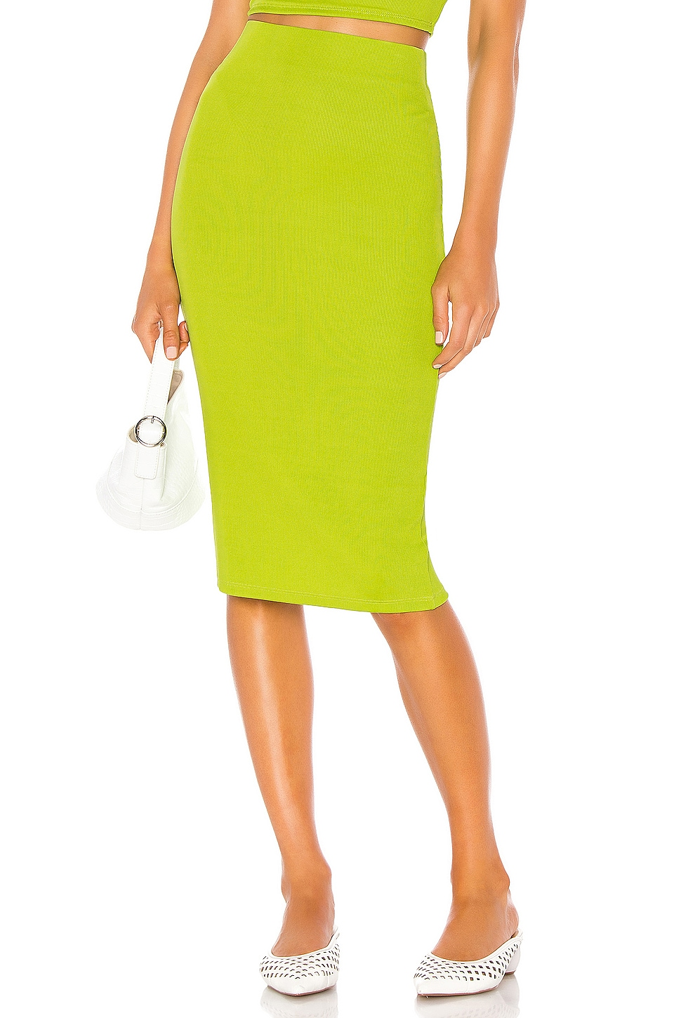 LPA Mirta Skirt in Lime Green
