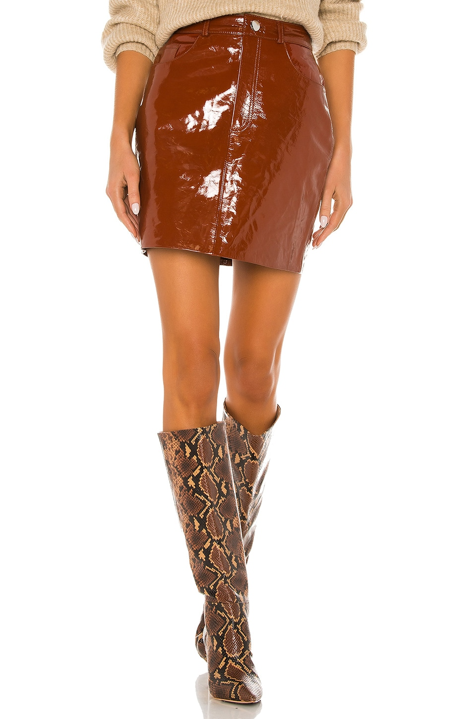 LPA Skirt 416 in Warm Brown