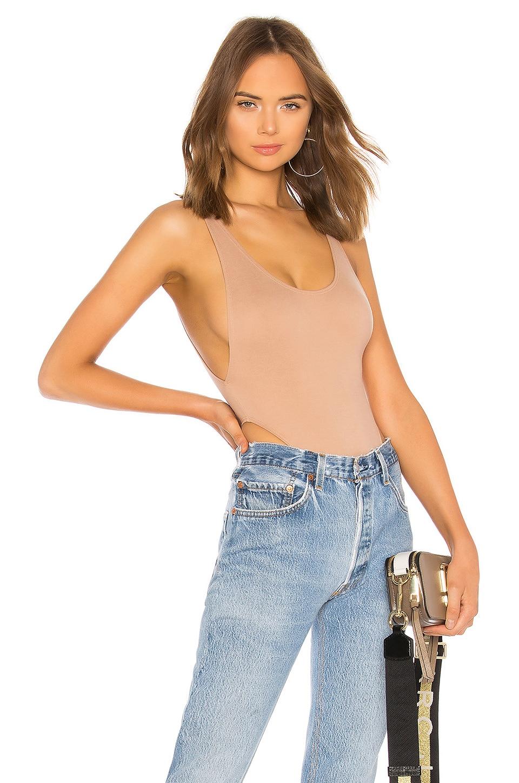 LPA High Hip Bodysuit in Tan